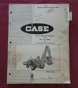 ORIGINAL 1966 CASE #32 & #32S BACKHOE #32 LOADER FOR 530CK TRACTOR PARTS CATALOG