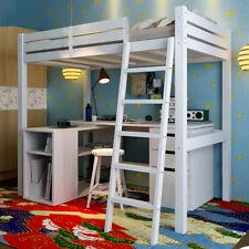 UK Childrens High Sleeper Bed Pine Loft Cabin Wooden High Sleeper Frame For Kids