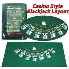 Blackjack Felt Layout 36 x 72 inch Casino 21 Green Felt