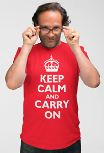 """""""Keep Calm and Carry On"""" Supporting Virus Workers Men's War Slogan T-shirt"""