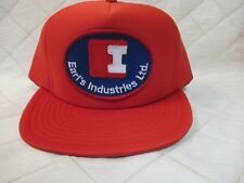 Earl's Industries Ltd Vancouver Bc M/L Nos Vintage Snapback Hat Cap Red Patch