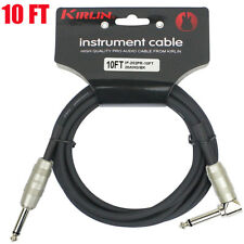 Kirlin 10 FT Cable Right-Angle Electric Patch Cord Guitar +Free Cable Tie NEW