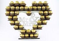 """Mr & Mrs"" Ferrero Rocher Heart Tree Wedding Display Stand Centrepiece White  V2"