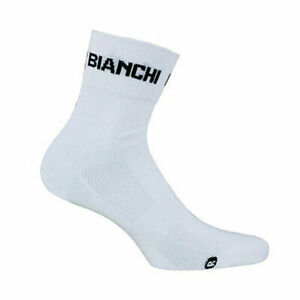 Bianchi-Milano White Coolmax Cycling Socks | Made in Italy