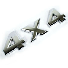 CHROME METAL 4x4 EMBLEM LETTERS OEM REPLACEMENT FOR TRUNK HOOD DOOR