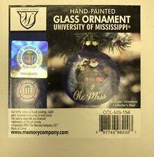 Ole Miss Rebels Santa Claus Glass Hanging Ornament