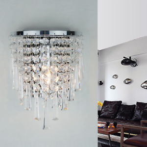 Modern Crystal Wall Lights Bedside/Aisle Lamp Sconce Wall Fixture Home Decor New