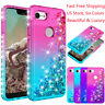 For Google Pixel 3A/3A XL Shockproof Bling Glitter Liquid TPU Clear Case Cover