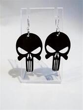 LASER CUT ACRYLIC EARRINGS - BLACK SKULL - FREE UK P&P.......CG1486