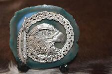 Eagle Pewter Stone Decor Stand Diamond Cut Office Feather Symbol Bird US Patriot