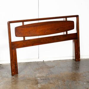Mid Century Modern Headboard Queen Lane Rhythm Bed Frame Walnut Mcm Danish Wood