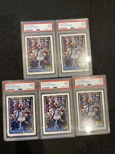 1992-1993 Topps SHAQUILLE O'NEAL PSA 9 (x5) Investment Lot! - MINT