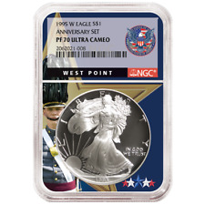 1995-W Proof $1 American Silver Eagle NGC PF70UC West Point Core