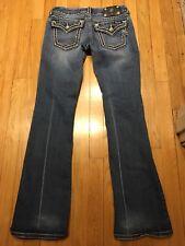 Miss Me JS5014B58 Boot Medium Wash Denim Jean W/Button Flap Pockets 28