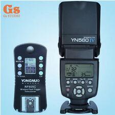 Yongnuo YN-560 IV Flash Speedlite + 1pcs Wireless Flash Trigger RF-605 LCD for C