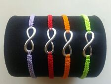 Pulsera bisuteria amistad simbol Infinity infinito hilo colores varios