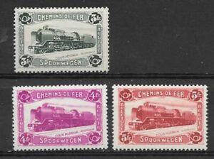 Belgium - Railway - 1934 - COB TR175/7* - SCOTT Q181/3 - Modern Locomotive -MH -