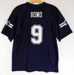 DALLAS COWBOYS TONY ROMO #9 JERSEY Blue NFL Team Apparel Football YOUTH LARGE