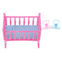 """la ropa de cama-a incl /""""mariposa/"""" Madera-puppenwiege//muñecas cama 50 cm"""