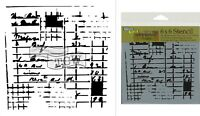 "The Crafter's Workshop Set of 2 Stencils Receipt 12x12"" Large & 6x6"" Mini"