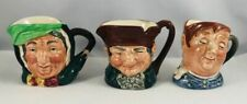 Lot of 3 Royal Doulton Miniature Toby Mugs: Sairey Gamp, Fat Boy, Old Charley