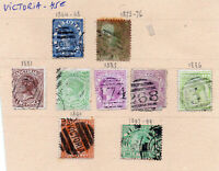 Anciens timbres colonies anglaises Victoria