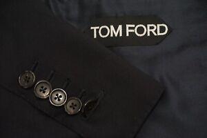 Tom Ford Basic Base B Midnight Navy Blue 100% Wool Sport Coat Blazer Sz 44R