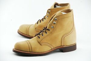 NEW W BOX | RED WING 9.5 WOMENS IRON RANGER MOHAVE SAND BOOTS HERITAGE 3368