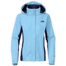 North Face Resolve Womens AQBJ-FPY Powder Blue Waterproof Rain Jacket Size XL