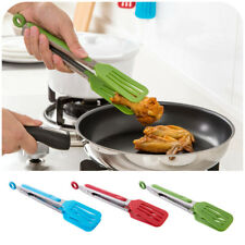 Kitchen Silicone BBQ Bread Salad Clip Tongs Baking Cooking Utensils Gadgets Tool