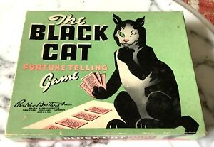 Antique The Black Cat Fortune Telling Card Game Parker Bros Complete Free Ship!