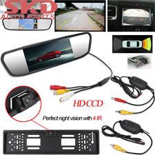 IR LED Rückfahrkamera kennzeichen kabellos Nummernschild Einparkhilfe & Monitor