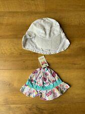 2 x BABY SUMMER HATS Girl 1-2-3 Years MOTHERCARE HAWKINS - BNWT