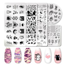 PICT You Nail Stamping Plates Patterns Nail Art Plate Pictures Stencil Stainless