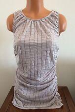 Womens M CALVIN KLEIN CK Light Solid Gray Sleeveless Long Tank Top Shirt