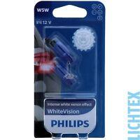 W5W / T10 PHILIPS WhiteVision Xenon-Effekt Scheinwerfer Lampe DUO-Box