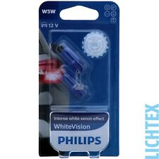 W5w/t10 Philips WhiteVision Xénon-Effet Phares Lampe DUO-PACK-BOX