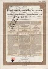 German External Loan 1924 (Dawes-Loan), 25.000 Lire, ital. issue