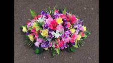ANY COLOUR 2ft Artificial Silk Flower Spray Arrangement Grave Funeral Tribute