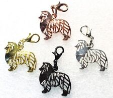 Collie or Shetland Sheepdog Dog Purse Charm Dangle Zipper Pull Alloy Jewelry