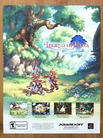 Legend of Mana PS1 Playstation 1 2000 Vintage Print Ad/Poster Art RPG Official
