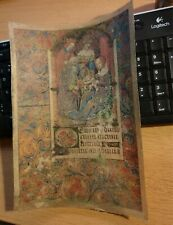 Mittelalterbild auf Pergament mit Maria, Jesus, und den Heiligen 3 Königen antik