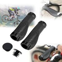 Bike Grips Rubber Mountain Bicycle MTB Handlebar Ergonomic Cycling Lock On Ends