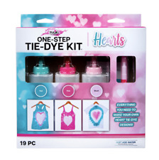 Tulip One-Step Tie-Dye Kit, Hearts, (Teal, Pink and Blush), 19 Pieces