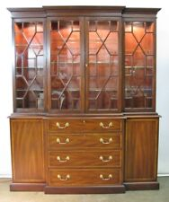 Henkel-Harris Federal Virginia Galleries Solid Mahogany Breakfront China Cabinet