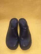 ECCO Clogs Mulls Size 8.5 / EU 39 Black Leather open back
