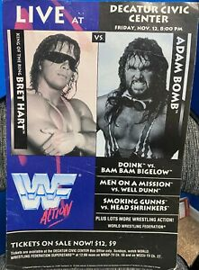 WWF LIVE Poster with Adam Bomb vs Brett Hart