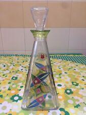 Bottiglia Di Vetro Decorata A Mano