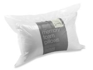 Pair Memory Foam pillows Orthopaedic Extra Support Firm Bed Pillow comfort