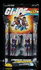 1985 Hasbro GI Joe Cobra Crimson Commanders Tomax and Xamot Pink Scar MOC